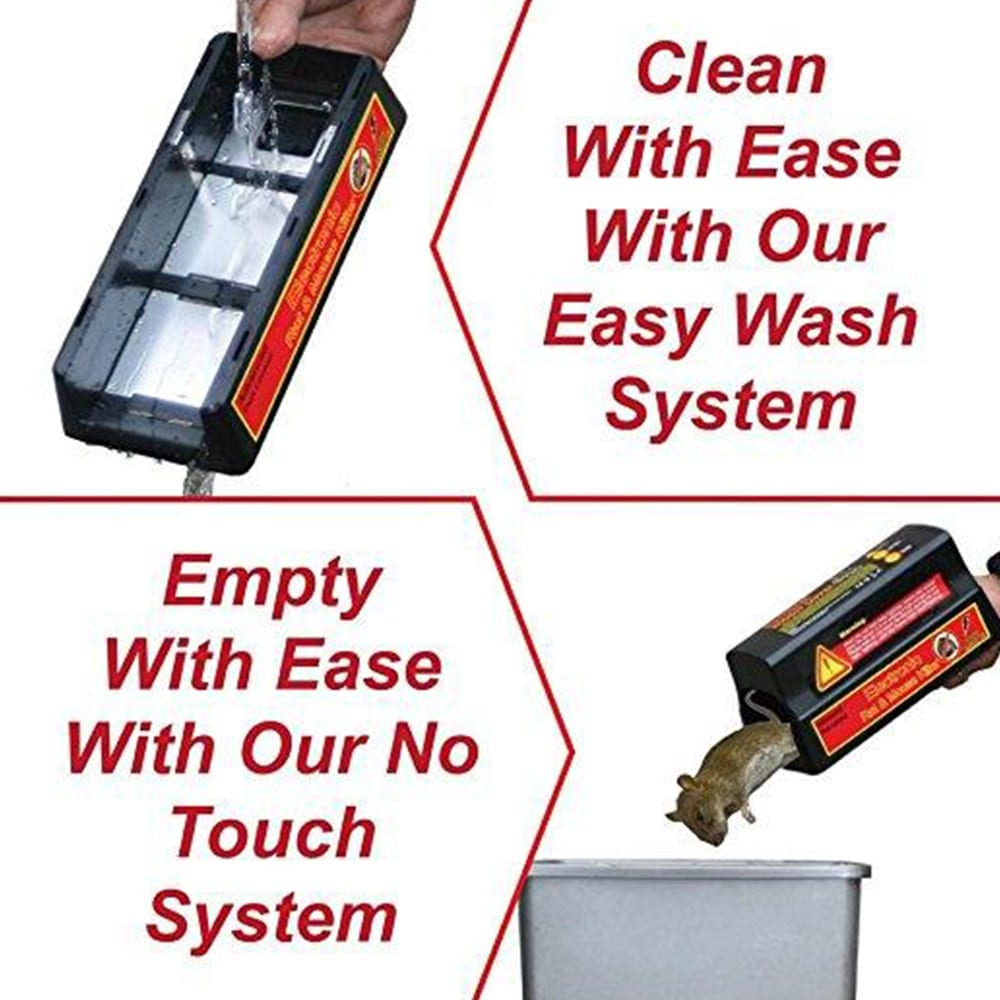 electronic rodent zapper rat trap easy to clean