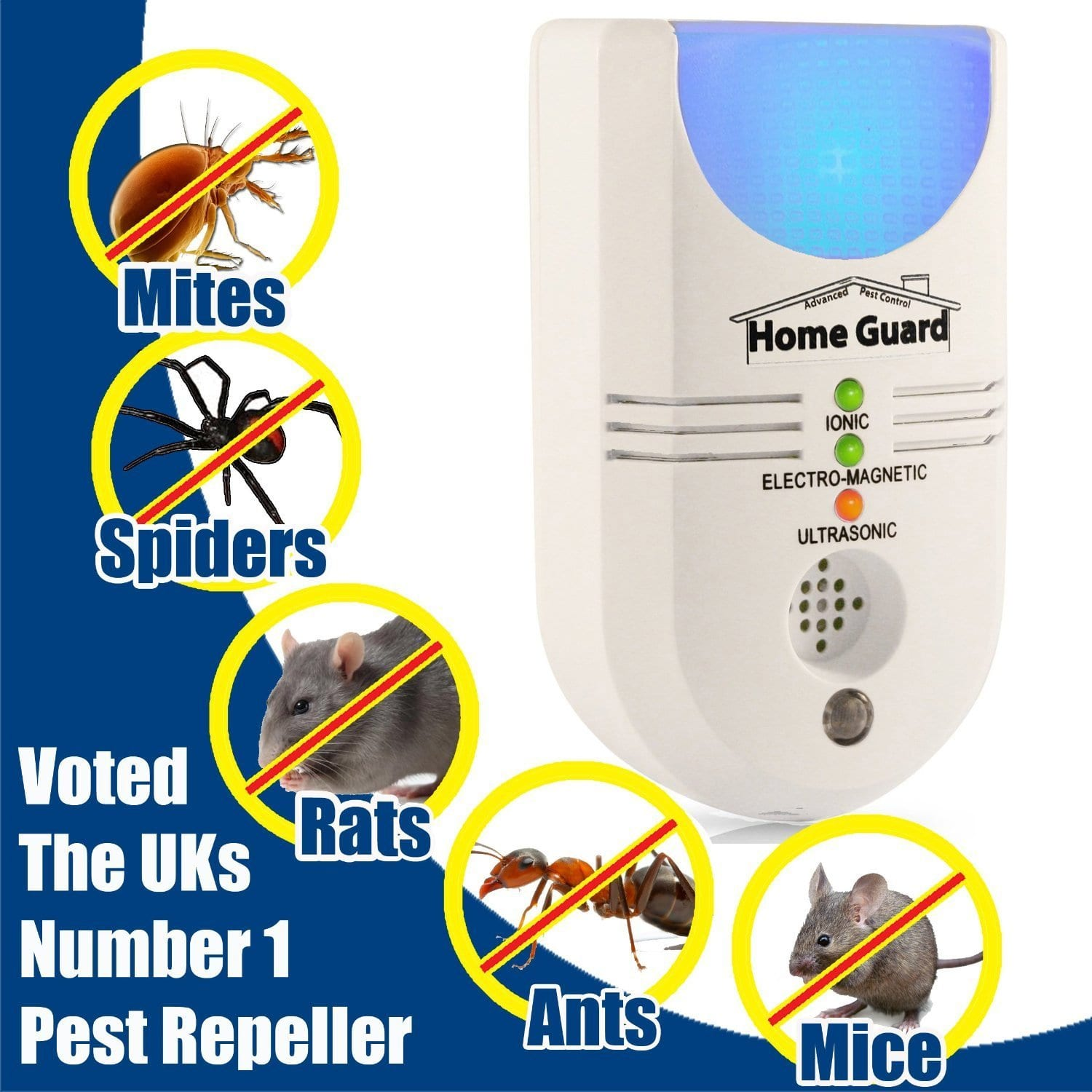mosquito plug in repeller using ultrasonic technology to deter pests in the home