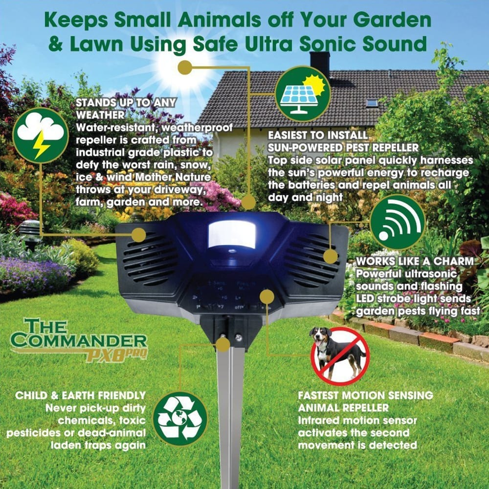 protect your garden with the ultrasonic pest repeller