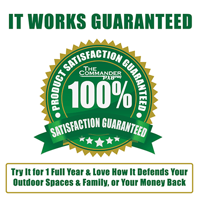 100% satisfaction guaranteed on the ultrasonic pest repeller