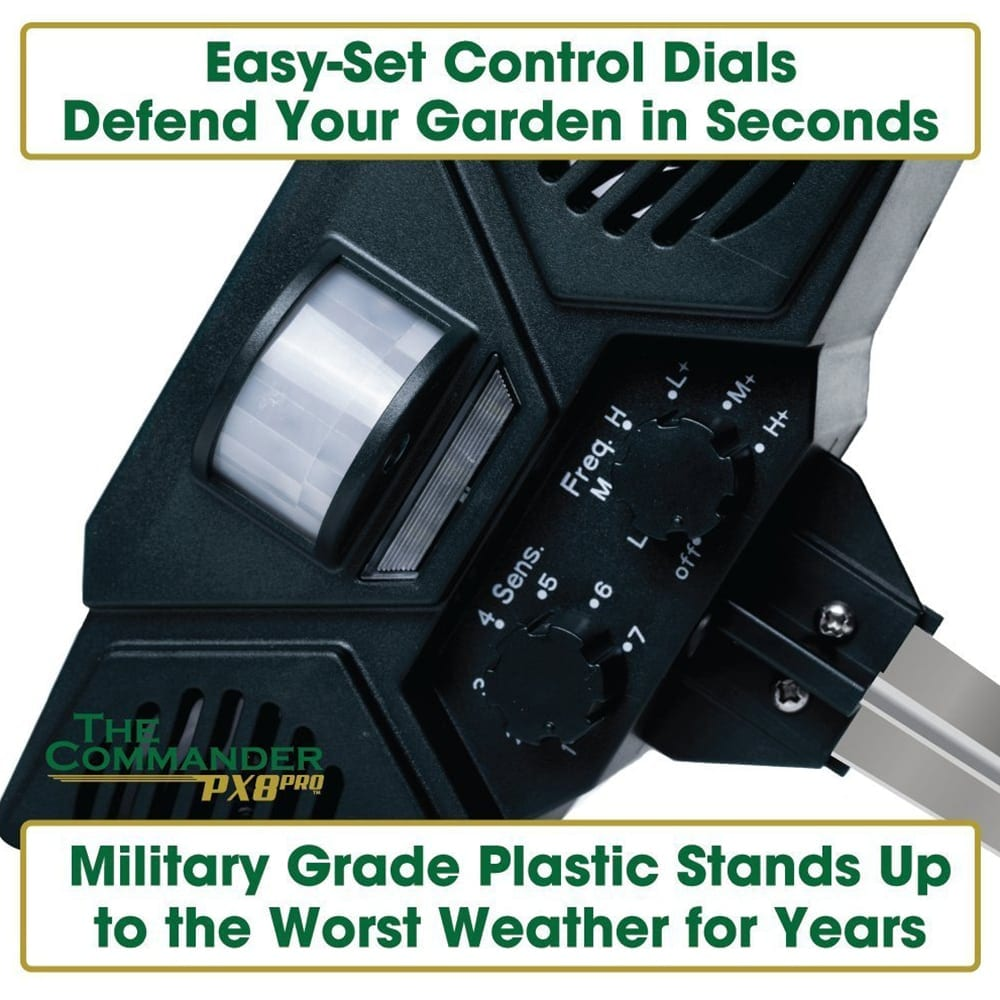 easy setup dials and military grade plastic on the ultrasonic pest repeller
