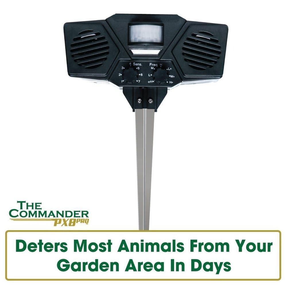 ultrasonic pest repeller deters most animals from your garden in days