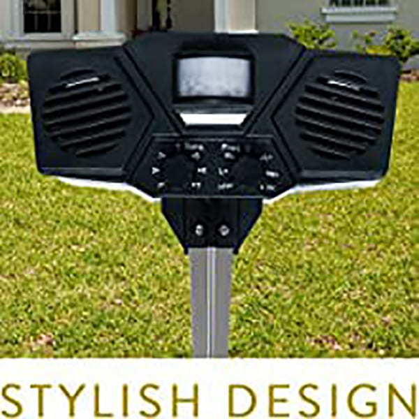 It comes with a stylish design that fits in any lawn, garden, fields or Landscape. With wider coverage and active sensors, it can be used for any pests and intruders.