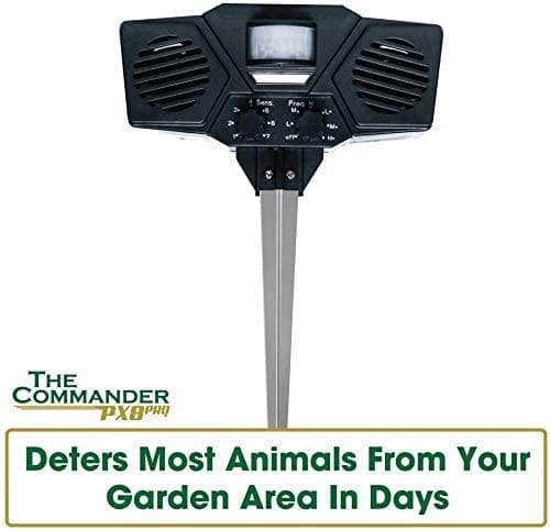 the commander Pest Control Patrol quick and easy to use solarpowered ultrasonic repellent against vermin and animals for outdoor use DOUBLE PACK Immediately and safely drive away cats and pests - deters most animals from your garden area in days