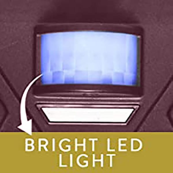 Outdoor Solar Ultrasonic Pest Repellent – The Commander PX8PRO Bright LED Light Deterant
